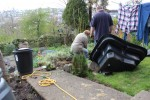 New pond-liner for newts and frogs and dragon flies... video